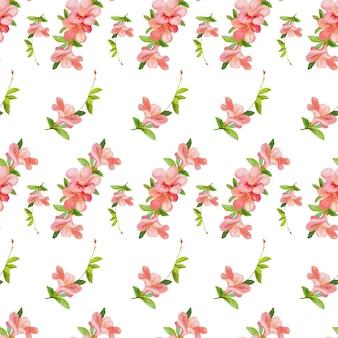 Цветы акварель бесшовный фон
