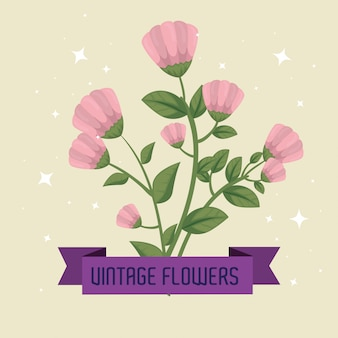Flowers with ribbon and stars