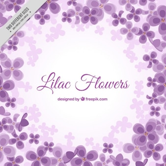 Flowery background in purple color