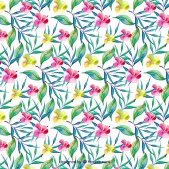 Flowery background in watercolor effect