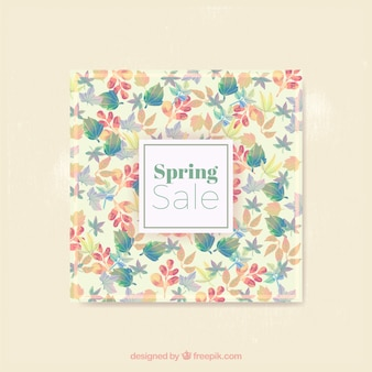 Flowery spring sale card