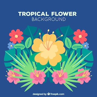 Flowery tropical background