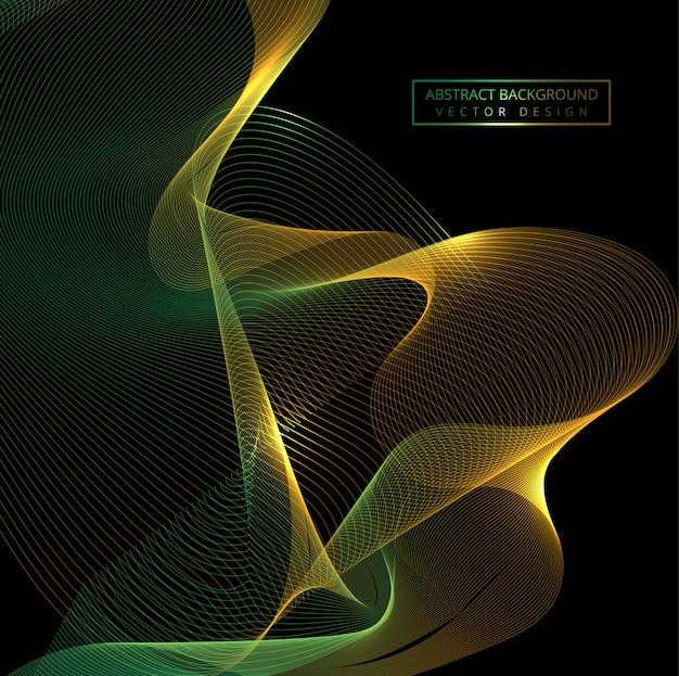 Flowing colorful stylish shiny wave background
