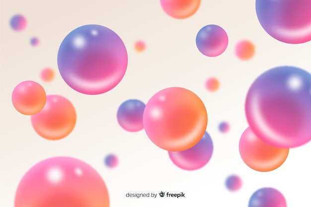 Flowing glossy spheres background