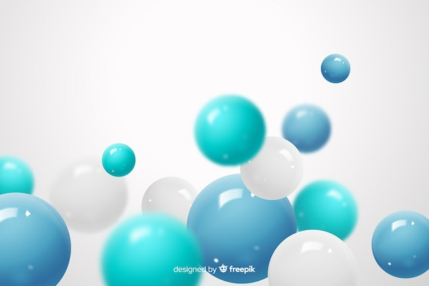 Flowing glossy spheres realistic background