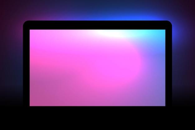 ウェブとアプリケーションの材料ベクトルの流れるピンクと青の色の抽象的な背景
