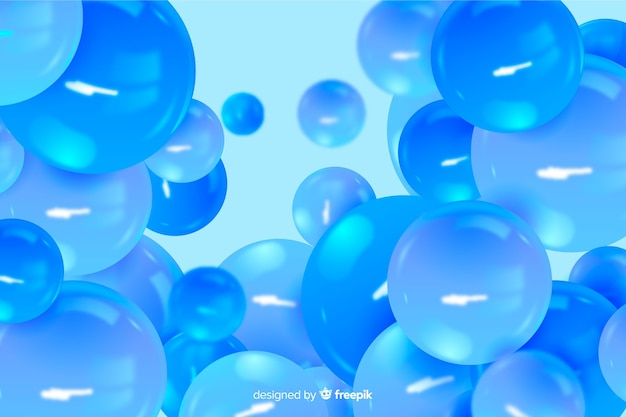 Flowing realistic glossy spheres background