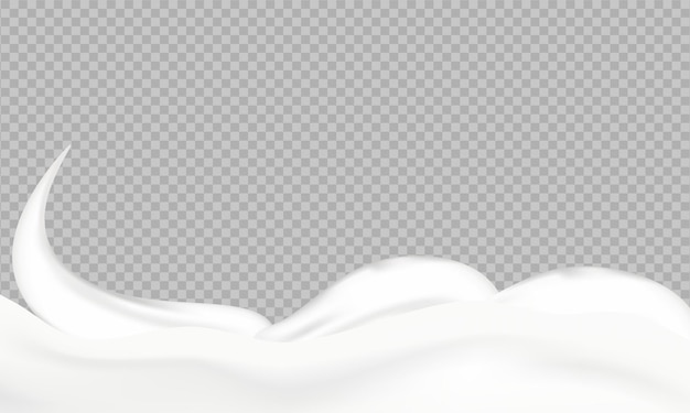 透明な上に流れるリアルな液体マヨネーズ。