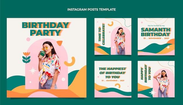 Flt design minimal birthdayig post