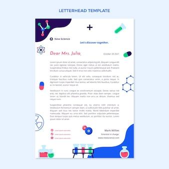 Flt 디자인 과학 레터헤드