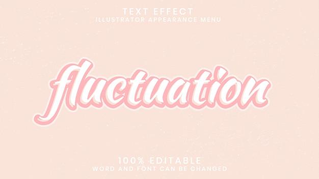 Шаблон стиля с эффектом флуктуирующего текста
