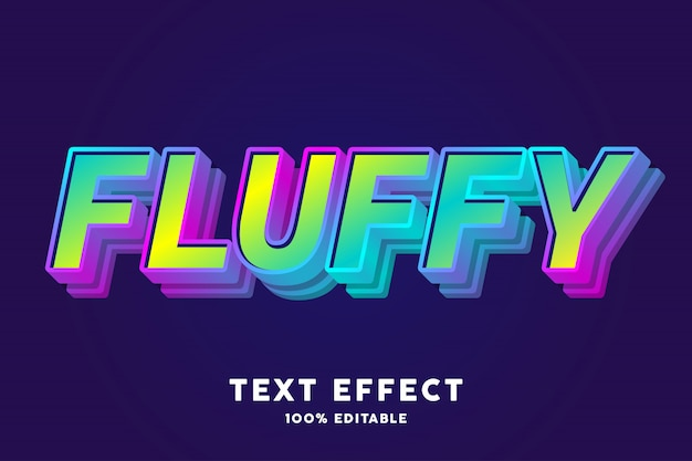 Fluffy candy text effect