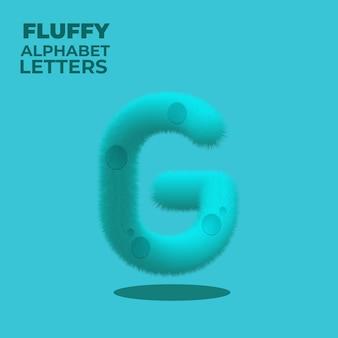 Fluffy gradient english alphabet letter g