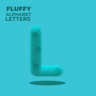 Fluffy gradient english alphabet letter l