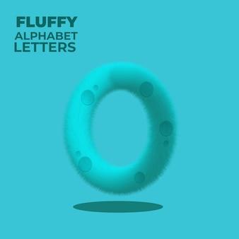 Fluffy gradient english alphabet letter o