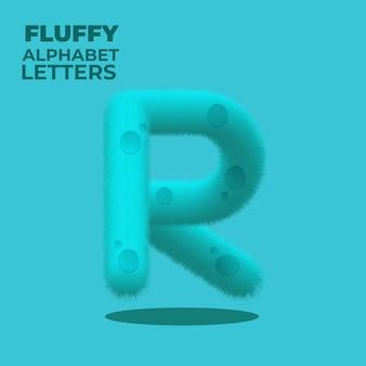 Fluffy gradient english alphabet letter r
