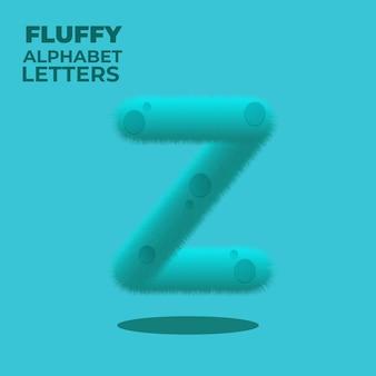 Пушистая буква z английского алфавита с градиентом