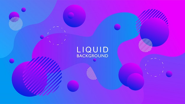 Fluid abstract background with circle shape