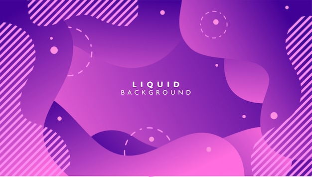 Fluid abstract background with purple color