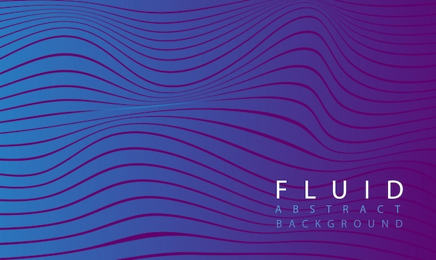 Fluid abstract purple background