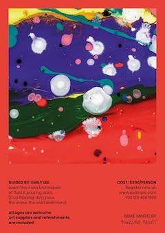 Modello di poster di arte fluida in stile colorato