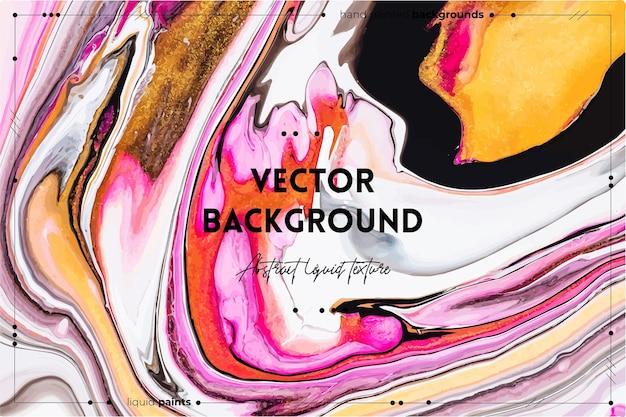 Жидкая художественная текстура абстрактный фон с переливающимся эффектом краски жидкий акриловый рисунок, который течет