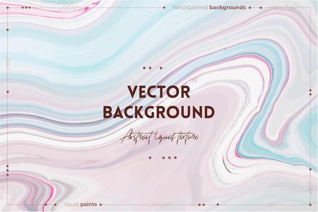 Жидкая художественная текстура абстрактный фон с эффектом смешивания краски жидкие акриловые произведения искусства, которые текут и брызги смешанных красок для плакатов или обоев, лавандовый синий и розовый переполняющие цвета