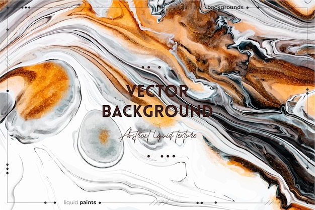 유체 예술 질감. 추상 소용돌이 페인트 효과. 아름다운 혼합 페인트가있는 액체 아크릴 삽화.
