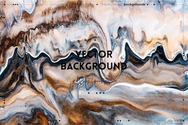 Жидкое искусство текстуры фона с абстрактным эффектом закрученной краски жидкая акриловая картина с потоками ...
