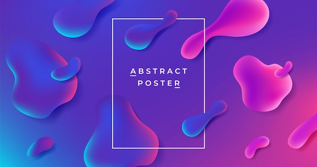 Fluid background. abstract gradient shape, futuristic geometric liquid graphic template, minimal dynamic poster.