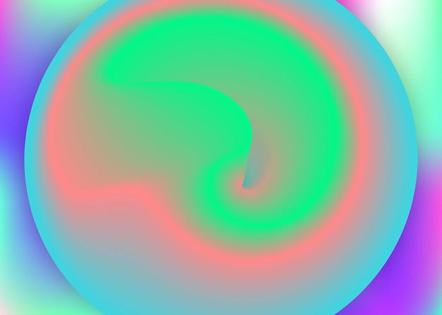 Fluid background. circle cover, presentation layout. holographic 3d backdrop with modern trendy blend. vivid gradient mesh. fluid background with liquid dynamic elements and shapes.