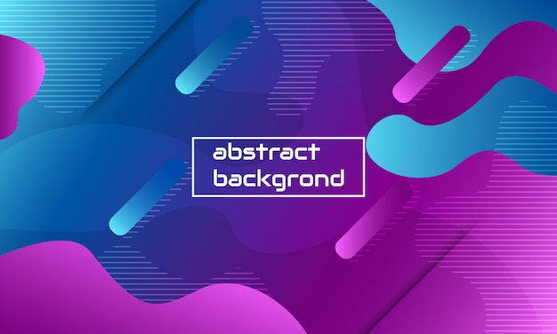Fluid background color illustration, dynamic abstract shape composition