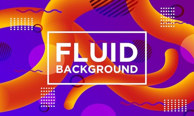 Fluid background memphis style templates