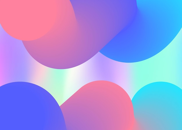 Fluid background. vivid gradient mesh. holographic 3d backdrop with modern trendy blend. magic presentation, banner frame. fluid background with liquid dynamic elements and shapes.