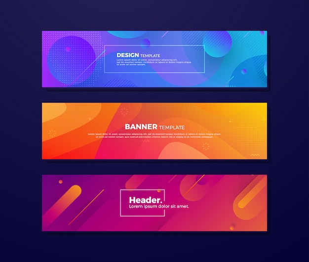 Fluid backgrounds with different concepts and colors.