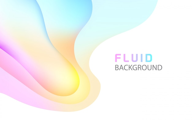 Fluid bright abstract background