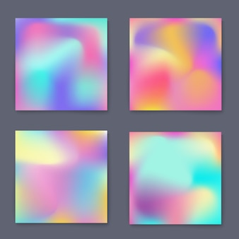 Fluid bright colorful backgrounds set