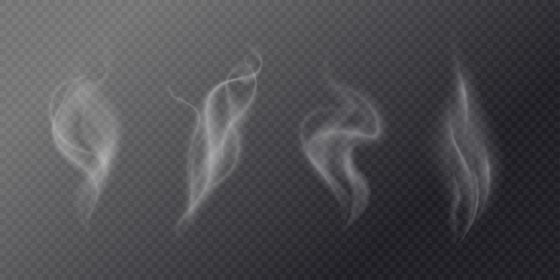 Fluid cigarette smoke on a dark background.