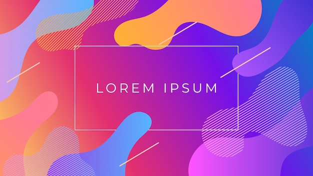 Fluid colorful holographic gradient abstract background