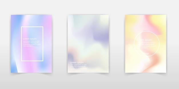Fluid colors backgrounds set.