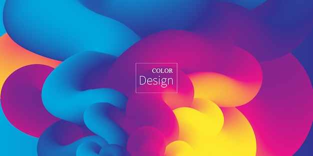 Fluid colors. liquid shape. ink splash. colorful cloud. flow wave. modern poster. color background. .