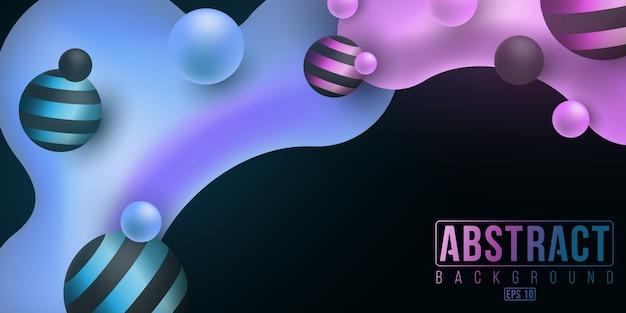 Концепция дизайна жидкости. люминесцентные жидкие градиентные формы. векторная иллюстрация. eps 10