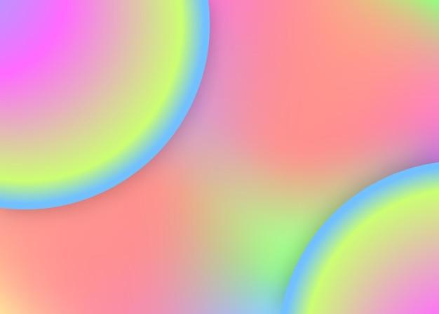 유체 역학. 현대적인 유행이 혼합된 홀로그램 3d 배경입니다. 다채로운 포스터, 표지 레이아웃입니다. 생생한 그라디언트 메쉬. 액체 모양과 요소가 있는 유체 동적 배경.