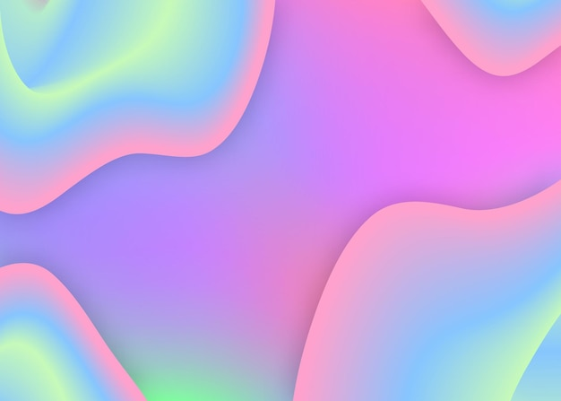 Fluid dynamic. holographic 3d backdrop with modern trendy blend. cosmic presentation, card template. vivid gradient mesh. fluid dynamic background with liquid shapes and elements.