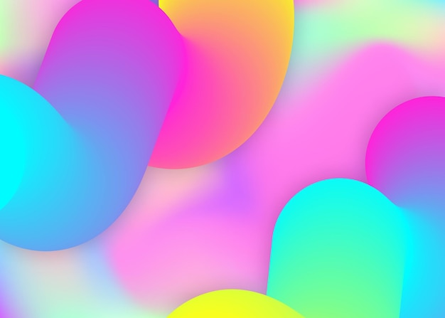 Fluid dynamic. holographic 3d backdrop with modern trendy blend. vivid gradient mesh. vibrant wallpaper, book composition. fluid dynamic background with liquid shapes and elements.
