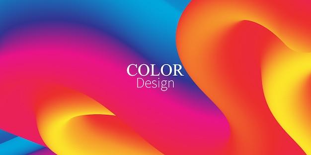 流体の流れ。インクしぶき。液体の色。流体形状。抽象フロー。鮮やかな色。トレンディなポスター。カラフルなグラデーション。水にインク。波。流体の色。液体の形。フローウェーブ。