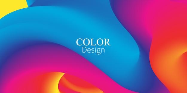 Fluid flow. ink splash. liquid color. fluid shape. abstract flow. vibrant color. trendy poster.