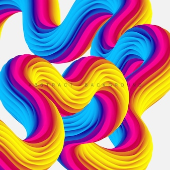 Fluid flow wave abstract liquid shapes background