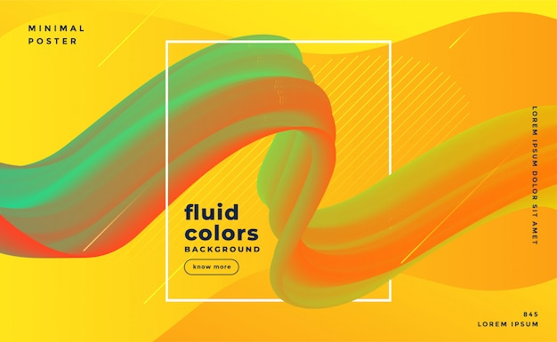 Fluid flowing motion modern background template