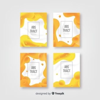 Fluid frame poster template collection